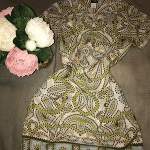 J Crew, Pretty Paisley Silk Dress w/Pockets, EUC 8